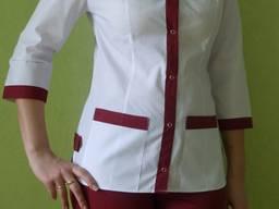 Медицинский костюм Радуга. Ткань: батист. в наличии
