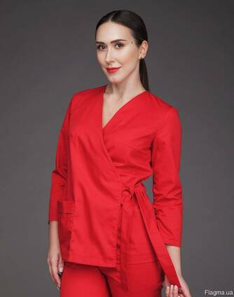 7326f9a2a9f Медицинский костюм женский красный под цена