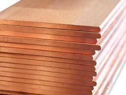 Медный лист 2, 5х600х1500 мм М1, М2