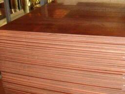 Медный лист М1 1,0*1000*2000 Дпрнм