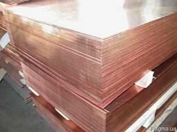 Листовая медь 3, 0х600х1500 М2м