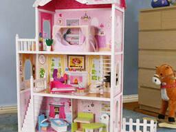 Мега большой игровой Кукольный домик для Барби EcoToys California 4107fm 124 см. ..