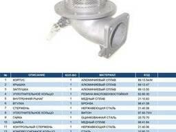 """Механический донный клапан 4"""" с фильтром из нерж. стали"""