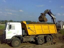 Копка котлована, разработка грунта, земляные работы