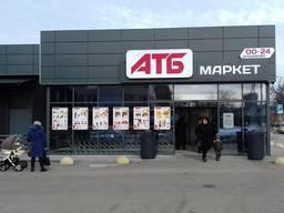 Механизированная Покраска магазинов АТБ Варус Сильпо