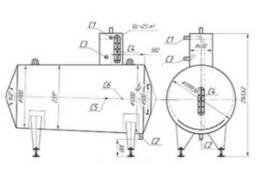 Мерник 2, 5м3 из нержавеющей стали