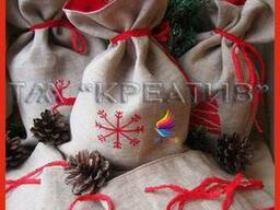 Мешочки декоративные упаковочные с вашим логотипом (под зака
