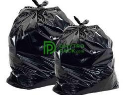 Мешок (пакет) полиэтиленовый черный - 100*50 см с фальцами