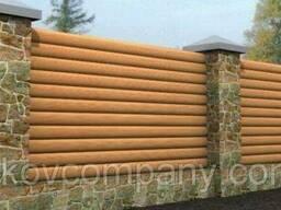 На забор и на фасад металлосайдинг бревно 3 D printech...