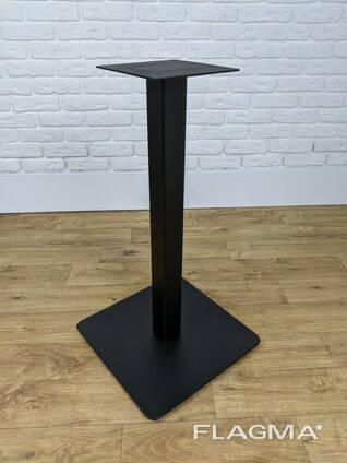 """Металлическая ножка для стола """"UNO"""" в ресторан со скругленной пластиной"""