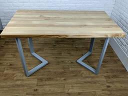 """Столик из дерева """"N45"""" из массива ясеня в стиле LOFT"""
