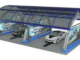 Металлические каркасы для АЗС и автомоек