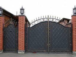Металлические кованые ворота