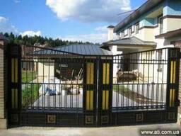 Металлические ворота, сварные, кованные, гаражные - Донецк