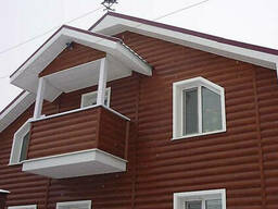 Металлический сайдинг блок хаус