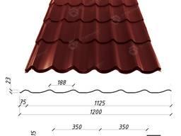 Металлочерепица Atlanta 0, 45 мм (Украина, Китай), купить