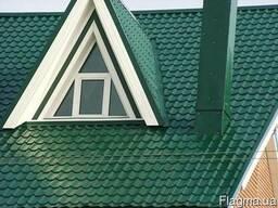 Металлочерепица зеленая Донецк RAL 6005