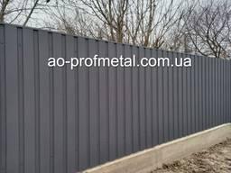 На Забор ПС-10 Серый Графит РАЛ 7024 Матовий.