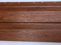 Металлосайдинг Корабальная доска , цвет Красное дерево 3D. ..