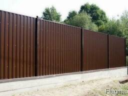 Забор из профнастила, сетки и др материалов