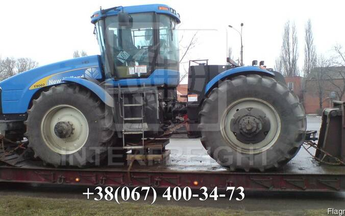 Международная перевозка тракторов