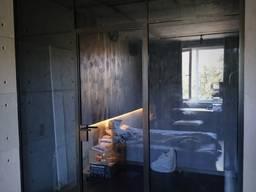 Межкомнатная LOFT перегородка из стекла графит