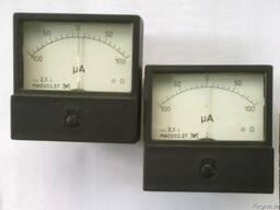 Микроамперметр МА-0203 100-0-100мкА 80х80мм кл. 2, 5