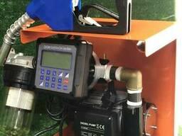 Мини АЗС DTP 60 AC 220 V для перекачки дизеля со счетчиком с преднабором