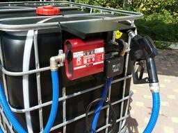 Мини азс колонка, насос, заправка топлива на базе еврокуба