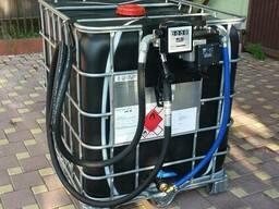 Мини азс, заправка дизельного топлива на базе еврокуба