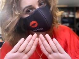 "Многоразовая защитная маска ""No kiss"""