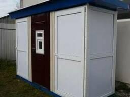 Многосекционные туалетные кабины. Багатосекційні кабіни.
