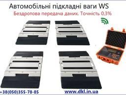 Мобільні підкладні бездротові ваги WS