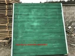 Установка временного ограждения строек (зеленый цвет)
