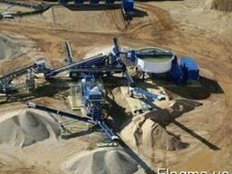 Мобильный промывочный завод, промывка щебня, мойка песка