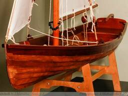 Модель деревянной лодки Whitehall