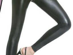 Модні щільні легінси з еко-шкіри Bas Bleu Elen, Чорний, 3