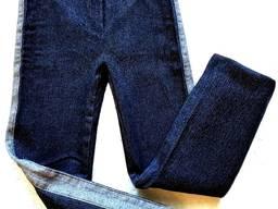 Модные детские брюки джинсы лампасы, sale цена снижена-50%