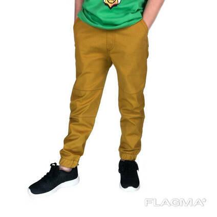 Модные яркие весенние джоггеры на мальчика горчичного цвета