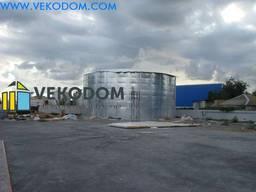 Модульная емкость 3000 м3. Пожарный стальной резервуар рвс.