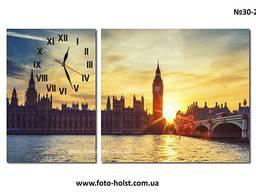 Модульные картины Лондон, Биг-Бен (с часами, без часов)