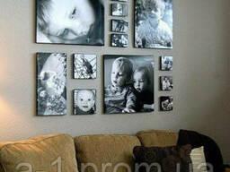 Модульные картины с фотографиями(холст матовый)