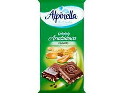 Молочный шоколад с арахисом Альпинелла 90 грамм