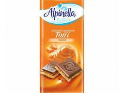 Молочный шоколад с карамелью Toffi Alpinella 90 грамм