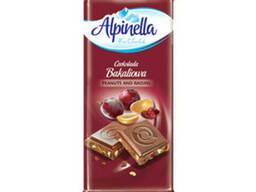 Молочный шоколад с орехом и изюмом Alpinella 90 грамм