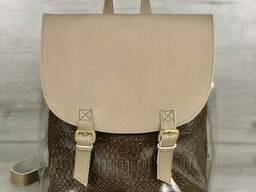 Молодежный силиконовый рюкзак Welassie кофейного цвета с. ..