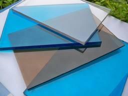 Монолитный Поликарбонат 0,8 мм Трапеция Цветной
