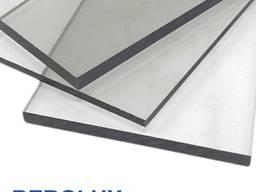 Монолитный поликарбонат, серый 2050x6100х3 мм, купить, цена,