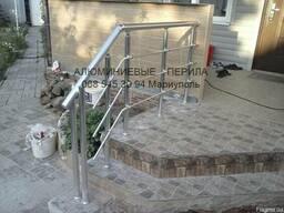 Монтаж алюминиевых перил в Мариуполе