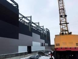Монтаж быстромонтируемых каркасных зданий БМЗ из сэндвич-панелей